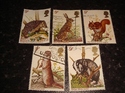 1977 - GB COMMEMORATIVE STAMPS - BRITISH WILDLIFE - Set of 5 Used stamps