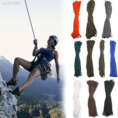 FA7B 100FT 550 Mountaineering Rope Paracord Parachute Cord Mil Strand Durable