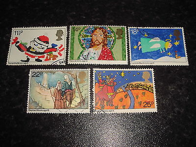 1981 GB Commemorative stamps - CHRISTMAS -Set of 5 Used stamps
