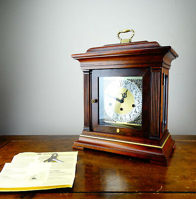Howard Miller Georgian Style Bracket Mantel Clock Franz Hermle Triple Chiming