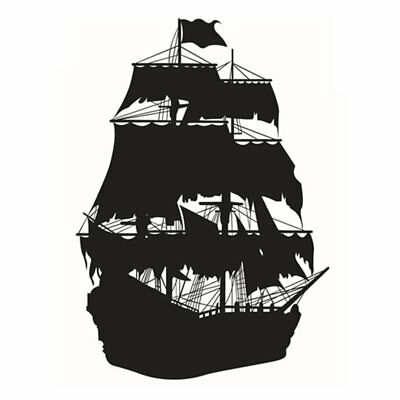 Sailboat Wall Art Stickers for Bedroom Living Room Coffee Shop Background R W4L8