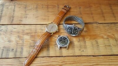 Job Lot Of Gents Vintage Wrist Watches Sold For Spares / Repair Omega  Oris