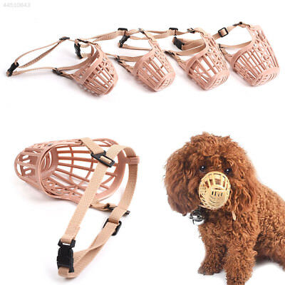 7FA3 Pet Dog Mask Bite Mesh Mouth Muzzle Grooming Anti-bite Anti-call 4 Size