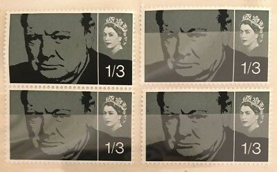 GB MINT 1965 SG662 Churchill Commemoration stamps, set of 2 & 2 singles MNH