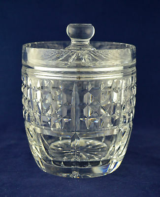 Royal Brierley Crystal Biscuit / Sweet Barrel – 16.5cms (6-1/2″) Tall