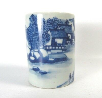 Blue and White Painted with Landscape Bi-tong Guangxu Period