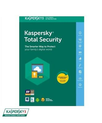 Kaspersky Total Security 2019 - 3 Device / 1-Year - CD - Region: North America