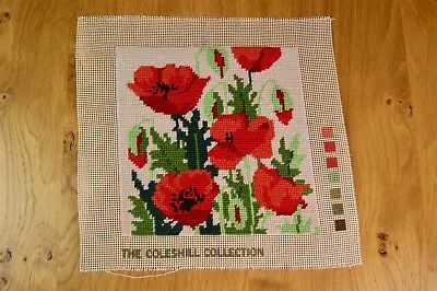 THE COLESHILL COLLECTION Completed Tapestry Needlepoint Picture Poppies