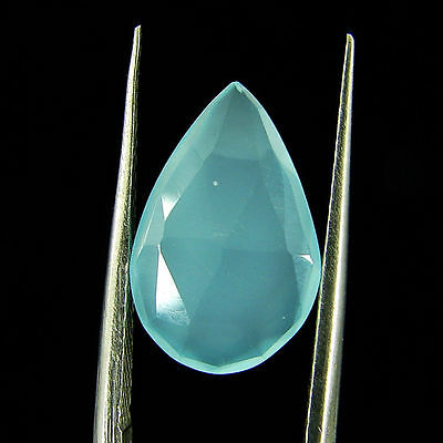 3.15 Ct Natural Beautiful Faceted Blue Chalcedony Loose Gemstone - ZS4743