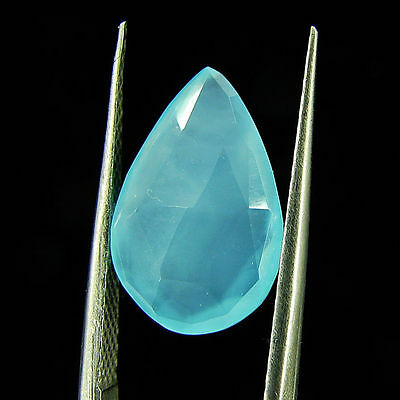 3.20 Ct Natural Beautiful Faceted Blue Chalcedony Loose Gemstone - ZS4777