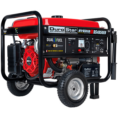 DuroStar DS4850EH 4,850-Watt Dual Fuel Electric Start Portable Power Generator