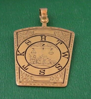 Antique Gold Masonic Watch Fob
