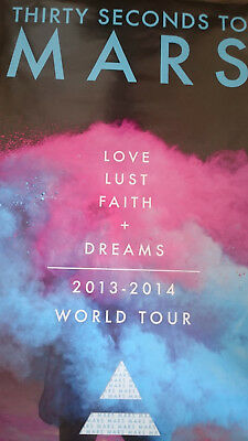 30 Seconds To Mars 2014 World Tour Poster