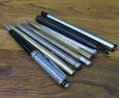 Job Lot Vintage Pens / Propelling Pencils  Mont Blanc Parker Leroi Yard O Lead