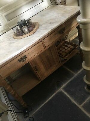 french oak table With Marble Top