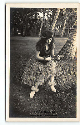 "#2  ""A Haole Hula Girl"" Real Photo Postcard RPPC by Ray Jerome Baker"