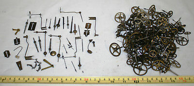 Over 100 Antique Clock Cogs and Parts + Antique OXO Tin
