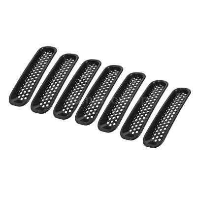 7PCS Front Insert Mesh Grille Cover Trim for 2007-2018 Jeep Wrangler JK New U5I1