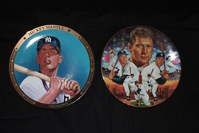 Mickey Mantle Sports Impressions Plates 1951 Rookie, The Legendary Mickey Mantle