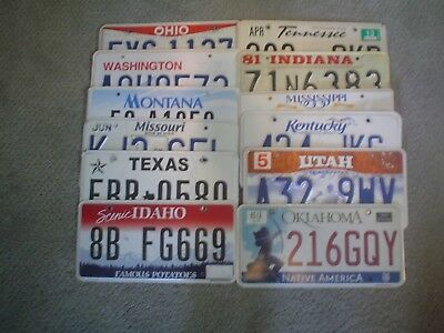 license plate lot of 12 states . all states for sale here