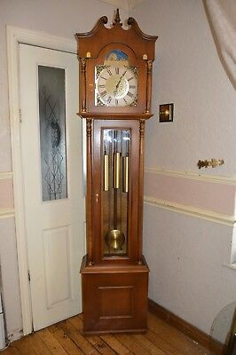 A Nice Morbier Westminster Chime Grandfather Clock With Moon Phase *serviced *