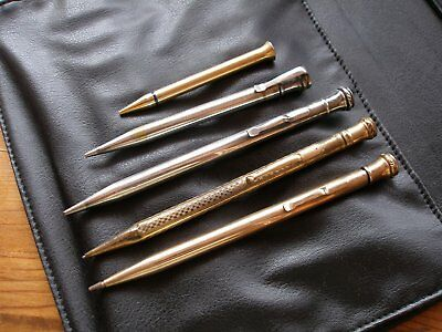 Lot collectible Wahl Eversharp gold and silver mechanical pencils