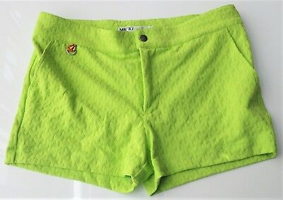 2194b87dd9 MR TURK 'Kent' Men's Textured Knit Lime Swim / Bathing Trunks Shorts ...