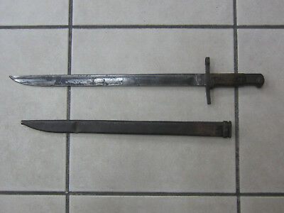 WWII Japanese Type 30 Bayonet with Scabbard Matsushita Arrow-M and Kokura Marks