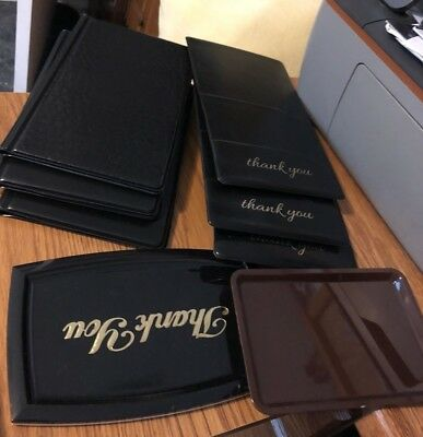 Restaurant Credit Card Holder Notebooks And Trays Lot Of 9 New Display Models