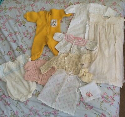 VINTAGE BABY CLOTHES Baby & Reborn Doll Etc MOTHERCARE 1960's 1970's 0-3m