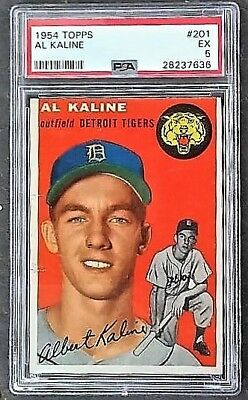 1954 Topps Reprint 201 Albert Al William Kaline Detroit