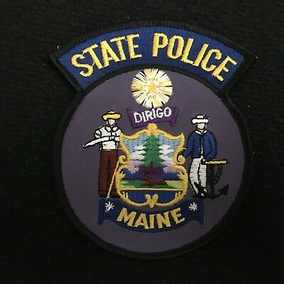 Maine State Police Police Department Patch