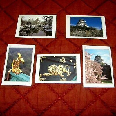 5 Postcards from the Osaka Castle - Japan - New - Unused