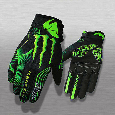 Mens Breathable Cycling Full Finger Gloves MTB DH Bike Bicycle Gloves Size L