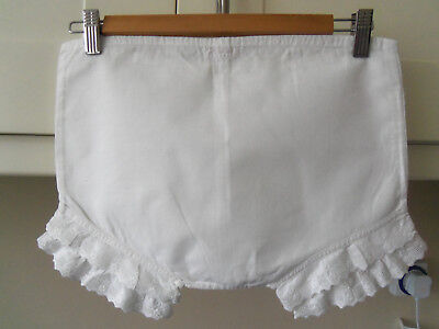 "Antique ""tootal"" White Cotton Pantaloons/bloomers-Theatre-Fancy Dress"