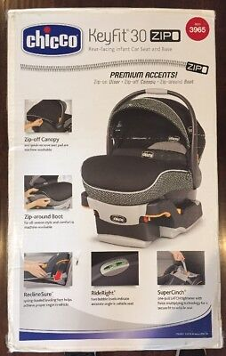 Chicco Infant Car Seat KeyFit 30 Zip Black Side Impact Protection