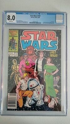Star Wars #107 CGC 8.0 VF White pages