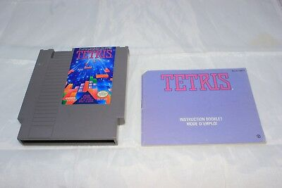 Tetris (Nintendo Entertainment System, 1989) Game and Manual Only