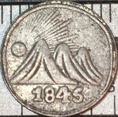 1845 Coin Central American Republic Coin UNC Tree of Life Mountains God Sunshine