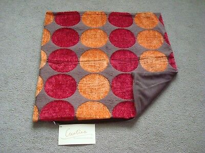 """BNWT One Single Brown with Orange and Red Circle Design Cushion Cover - 17""""x17"""""""