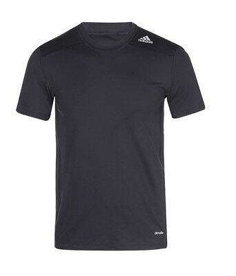 Adidas Techfit Climalite Fitted Base Tee Black Sz XL 100% Authentic