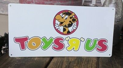 Toys r us where a kid can be a kid  Metal Sign 6x12 inches NEW S71