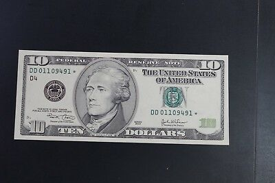 USA 2003 $10 replacement note in ch-UNC DD* series (v057)