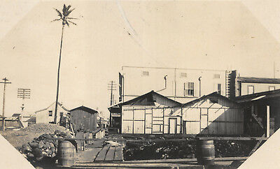 "1910 Hackfield Hawaii ""Gonzo"" Construction Project Real Photo Postcard RPPC"