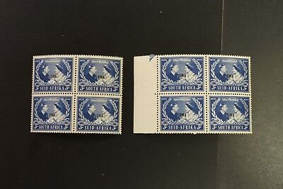 South West Africa #159 1948 silver wedding VF MNH x 8 sets in block (k276)