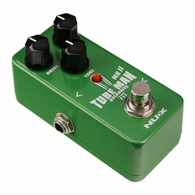 3X(NUX Tube Man MKII Overdrive Guitar Effect Pedal Mini Core Series Stompbo J4T3