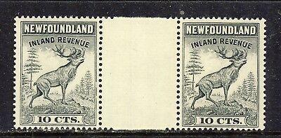 NEWFOUNDLAND INLAND REVENUE STAMPS #NFR47a 10¢ GUTTER PAIR F-VFNH