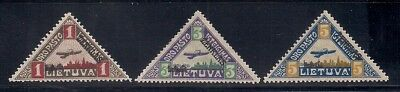 Lithuania  1922  Sc # C15-17  MLH  (40137)
