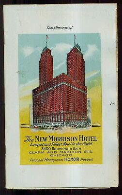 Rare 1926 The New Morrison Hotel Chicago,IL Address Book w/Celluloid Cover
