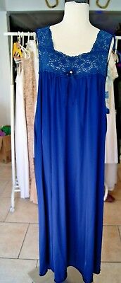 Vintage Blue VANITY FAIR Nightgown Size XXXL
